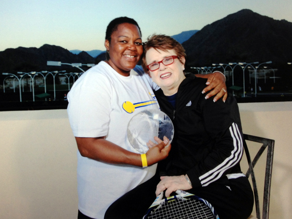 Claudette Sealy and Billie Jean King